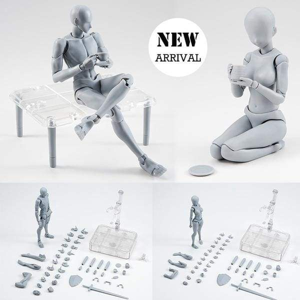 15cm Figures Jointed Doll Model Man Woman Painting Artist Drawing Sketch Mannequin Manikin