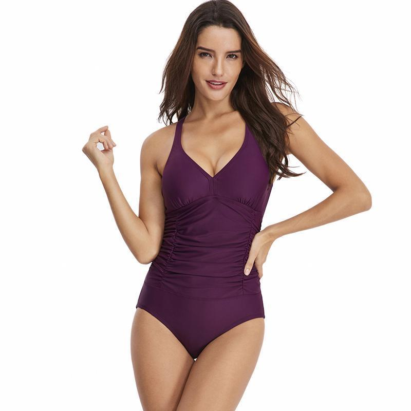 Women 2020 Cover Belly One Piece Swimsuit