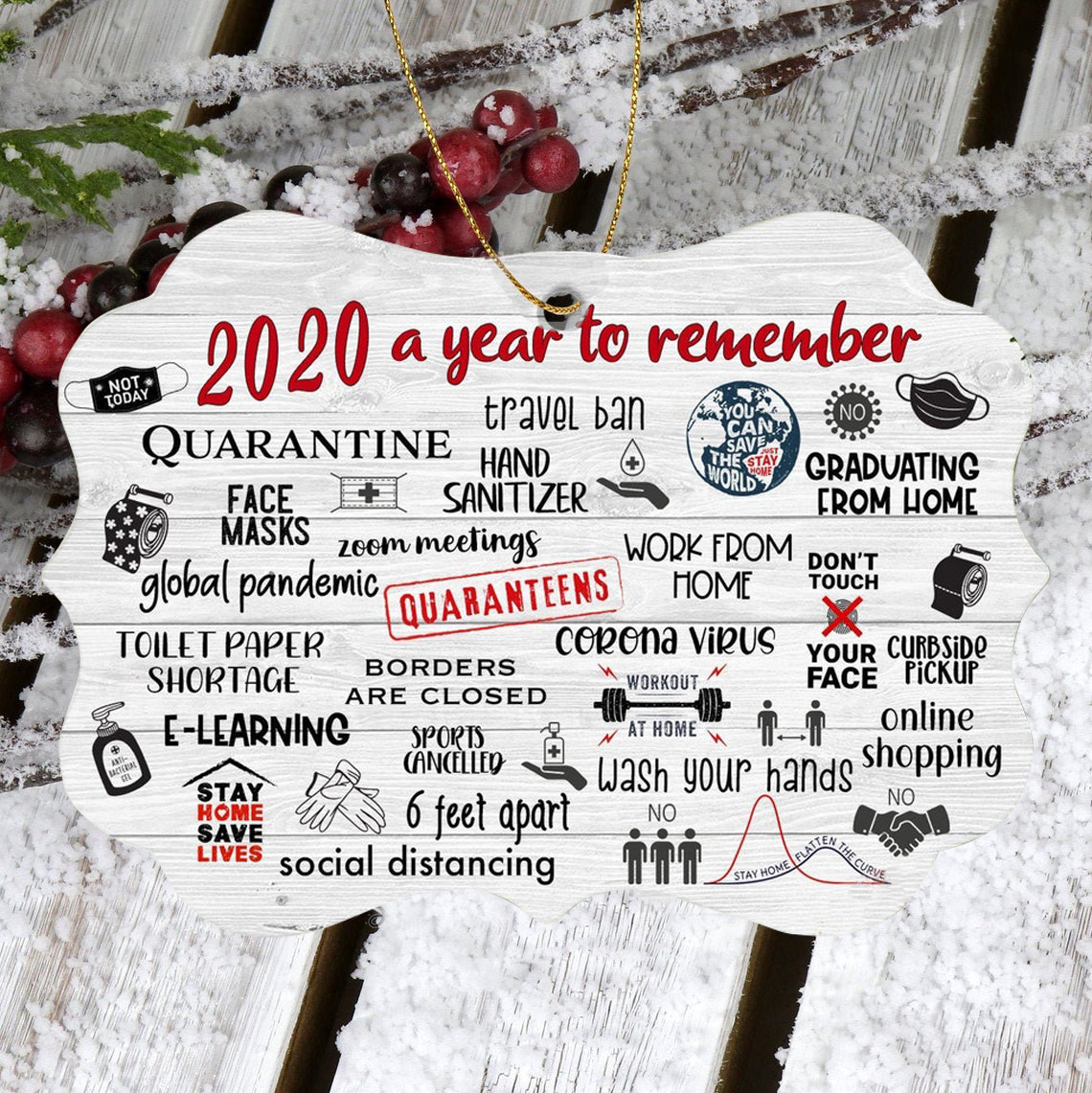 🌟Christmas Hot Sales🌟2020 Annual Events Christmas Ornament