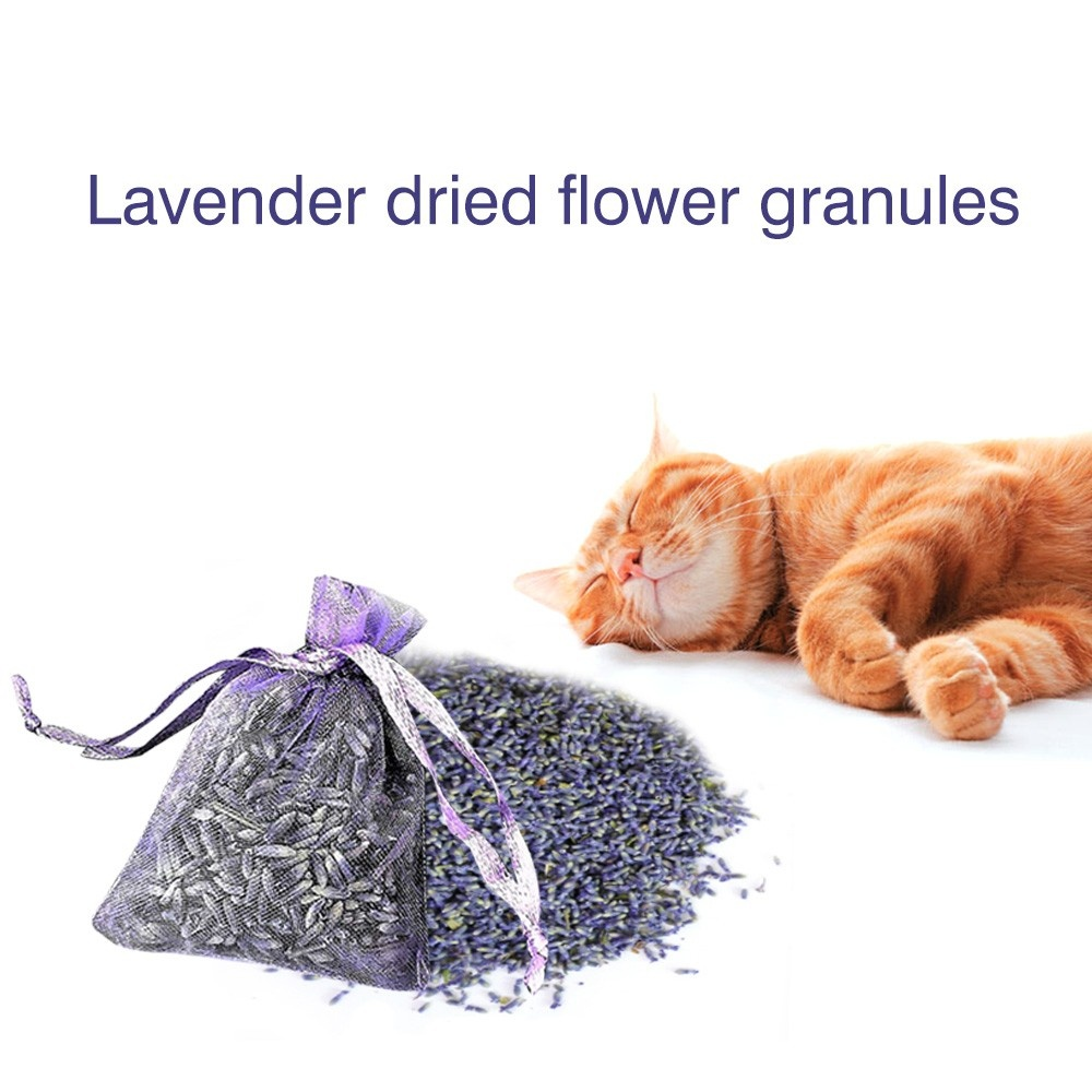 Hot 12 Bags of Dried Lavender in Small Lilac Organza Bags -Real Flower Wedding