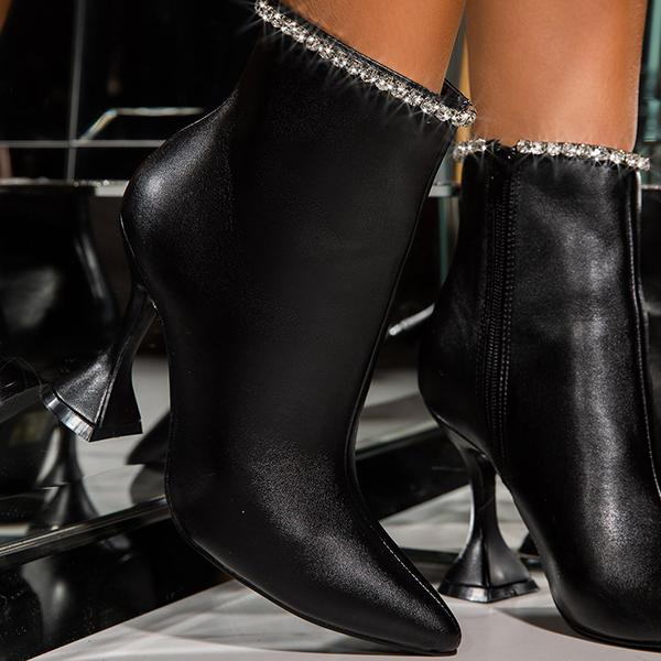 Upawear Winter New Tointed High Heel Boots