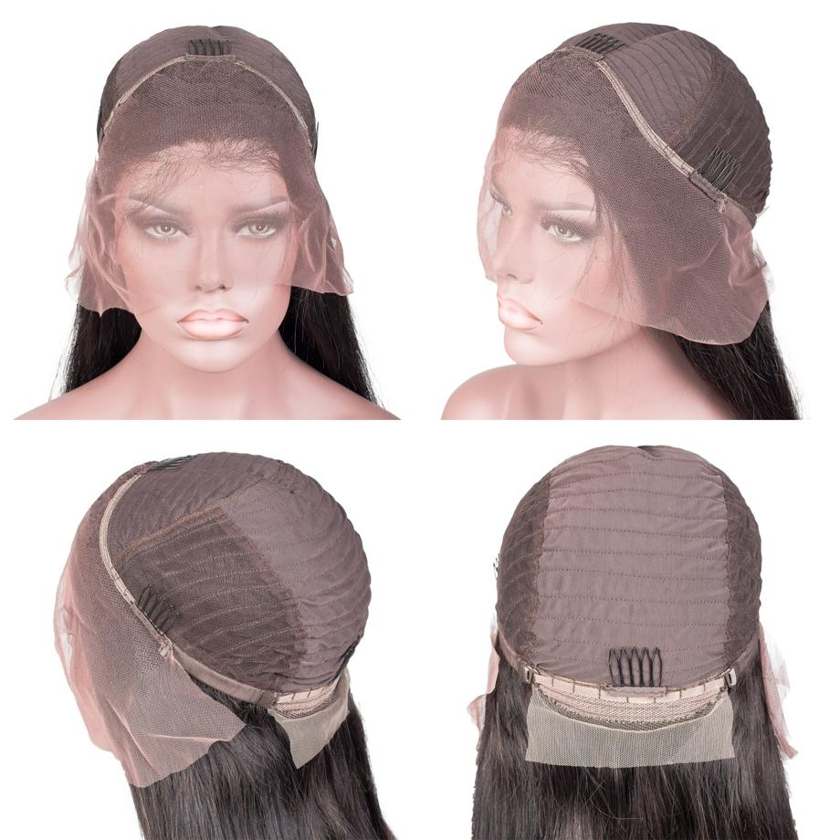 Lace Front Black Wig remy hair wigs for african american colored brazilian wigs
