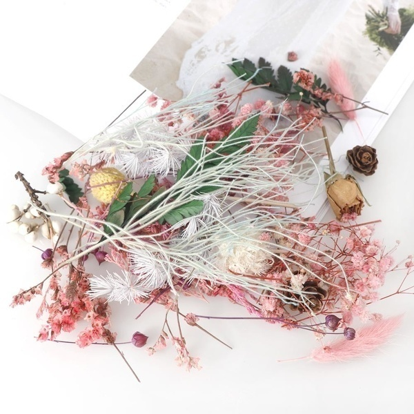 1/2/3/4Box Real Dried Flower Dry Plants for Aromatherapy Candle Soap Flower Epoxy Resin Pendant Necklace Jewelry Making Craft DIY Accessories