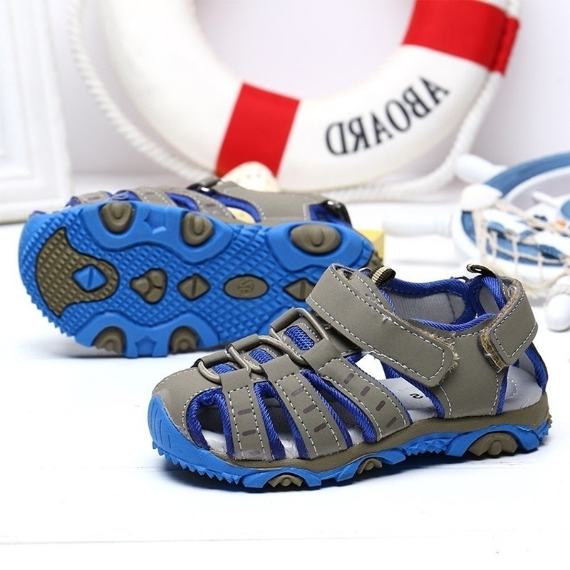 Size 21-37 1-16T) Summer Children's Sandals Casual Soft Bottom Shoes Flat Comfortable Beach Play Shoes for Boys