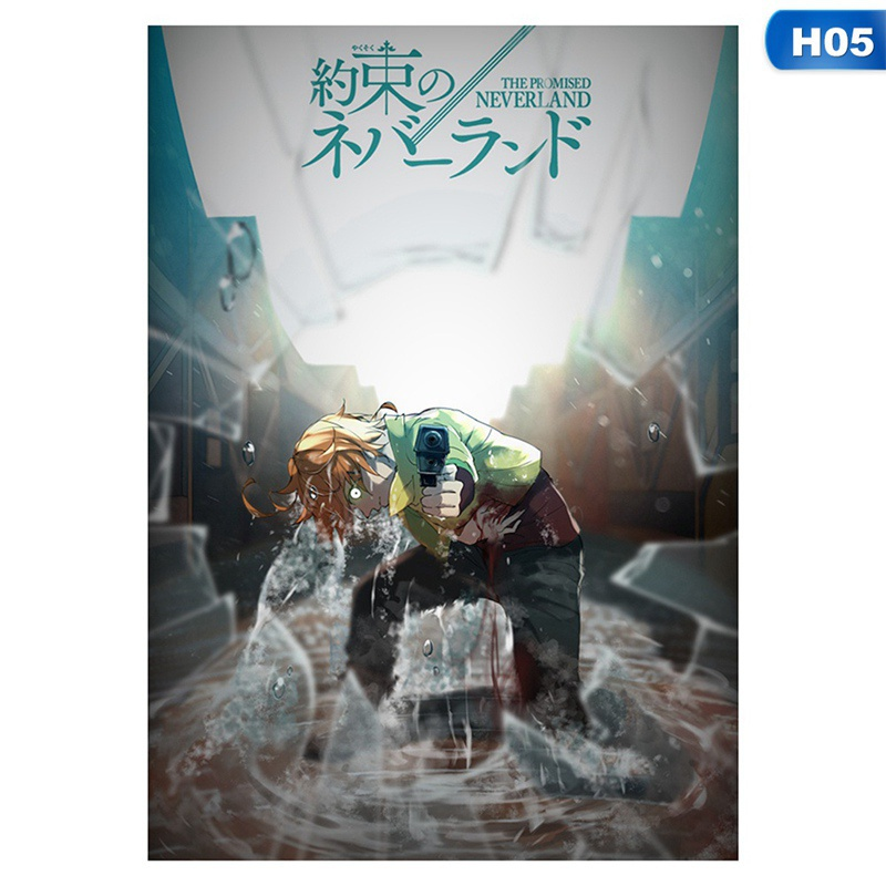 9 Styles Anime The Promised Neverland Poster Wall Home Decor Scroll Poster 42*29Cm