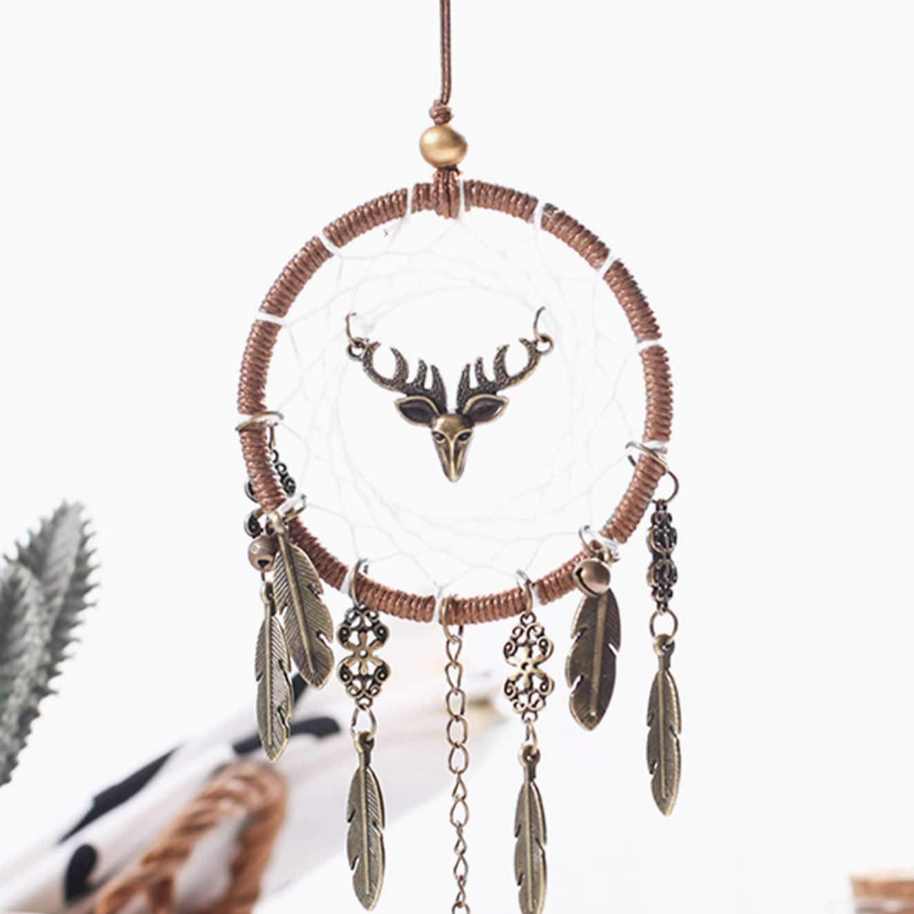 Metal Feather Pendant Dream Catcher