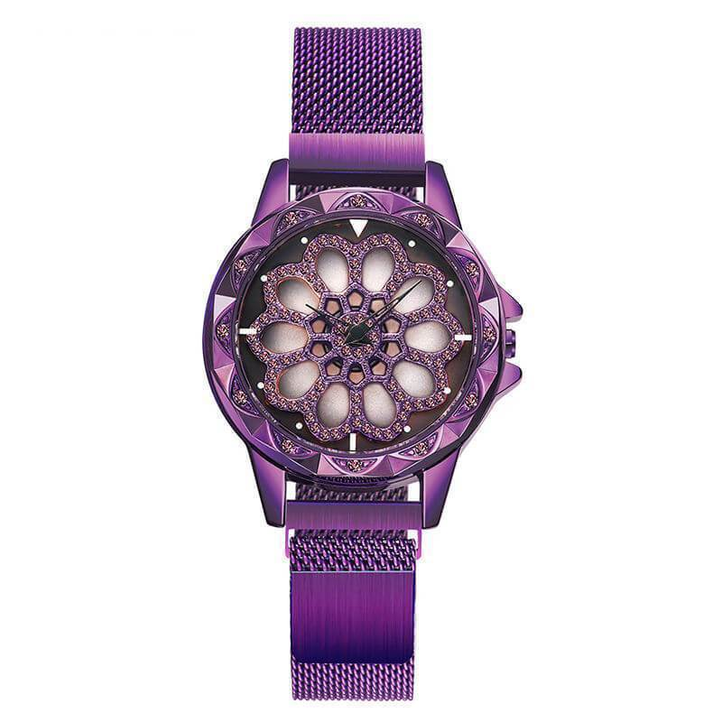 Rotating Dial Magnet Strap Watch