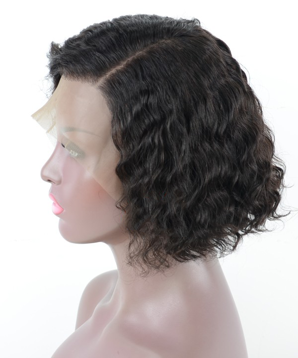 Pre-Plucked 13x6 Lace Frontal Wig Loose Wave BOB Hairstyle