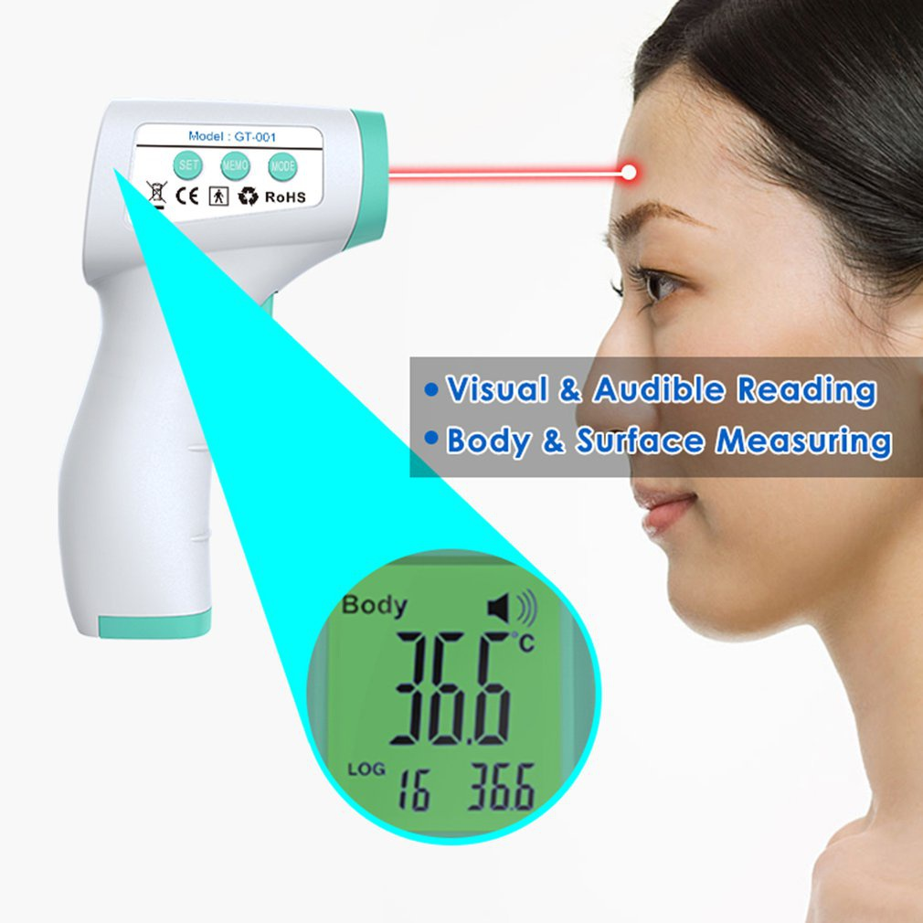 Infrared Human Body Temperature Detector Infrared Forehead Digital Thermometer