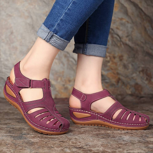 Hand-Embroidered Comfortable Wedge Sandals (Limited Time Offer)