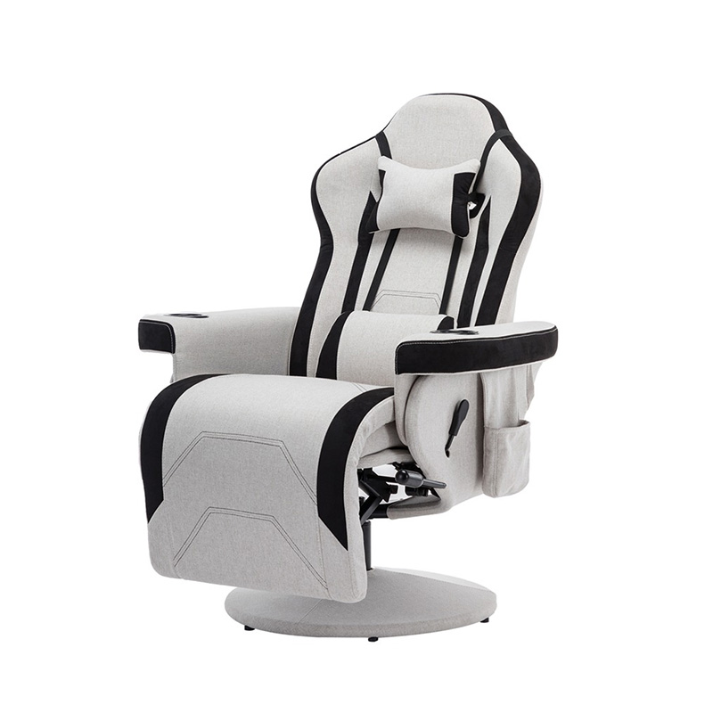Buyonhome Gaming Chair/Reclining Gaming Chair/Adjustable Headrest and Lumbar Support Gray