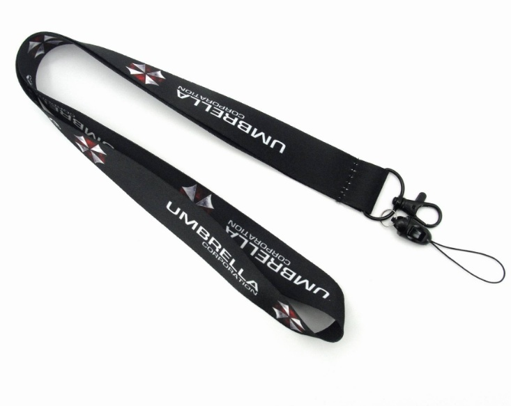 Resident Evil Umbrella Lanyard Mobile Phone Strap ID Badge HolderKey Chain Accessories*1