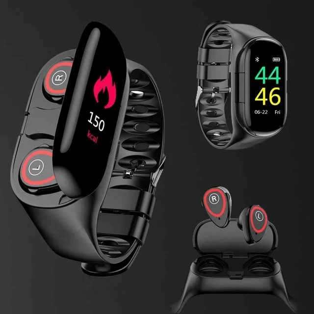 🔥2020 Latest🔥Trackbuds Smart Watch with Bluetooth Earbuds