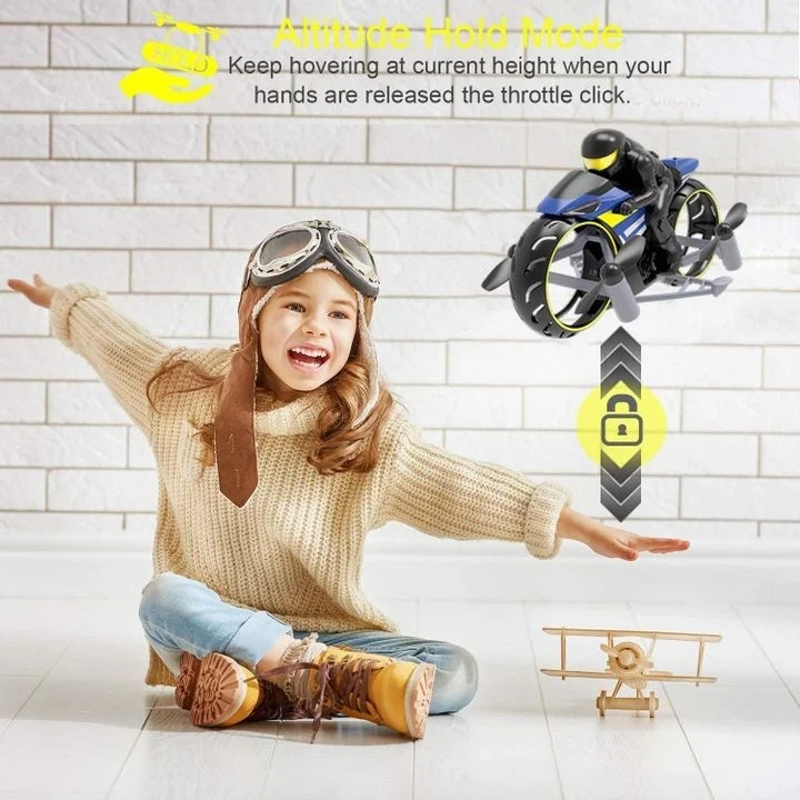 【Good idea for Christmas Gift】-Flying Motorcycle RC Drone
