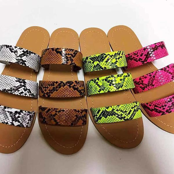 Bonnieshoes Stylish Slip-On Flip Flop Serpentine Summer Slippers
