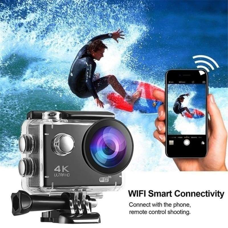 Professional HD 4K Sports Camera Anti-shake30 Meters Underwater  Action Camera 170¡ãWide-Angle DV Camcorder (Two Choise:480P no wifi & no remote /4K with wifi & with remote)