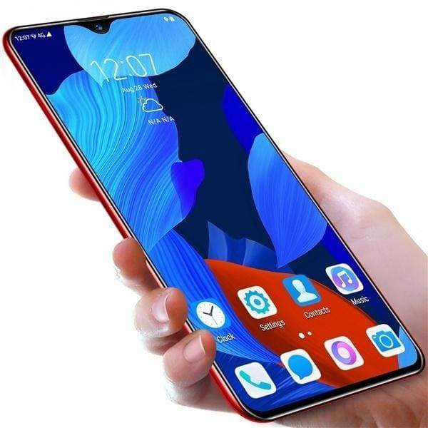 New Mate35 6.3 Inch Face Recognition & Fingerprint Unlock 2k HD Water Drop Screen Smartphone 6G + 128G Ten Core Large Capacity Memory Support Dual Card Dual Standby Android 9.1