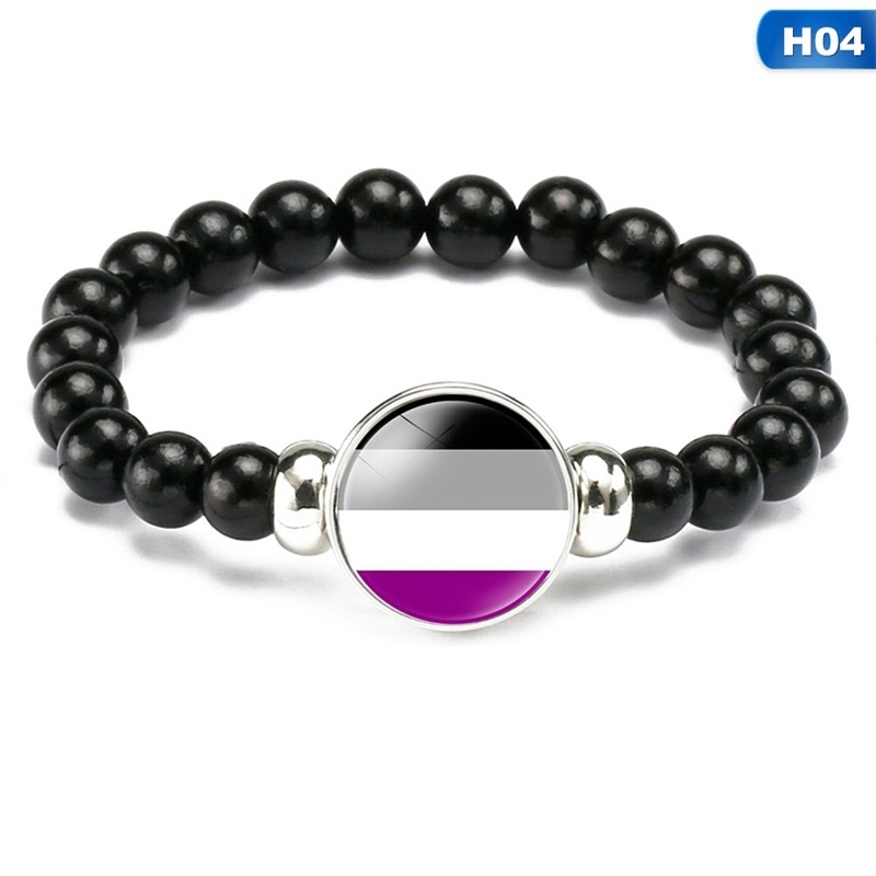 Gay Pride Lgbt Rainbow Lgbt Beads Bracelets & Bangles For Lesbian Gay Jewelry Gifts
