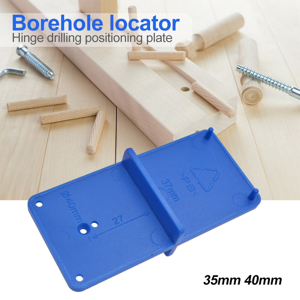 35MM 40MM Hinge Hole Jig Hole Drilling Guide Locator Opener Drill Bit Hole Tools