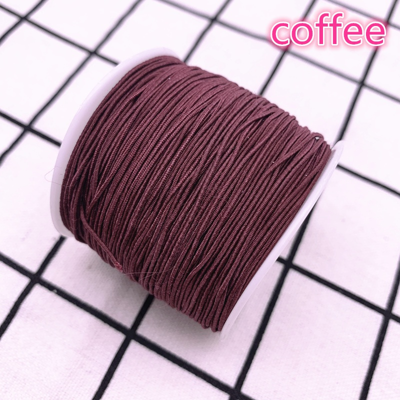 1.0mm 10yards High-Elastic Round Colourful Elastic Band Rubber Band Elastic Cord Diy Sewing Materials Crafts