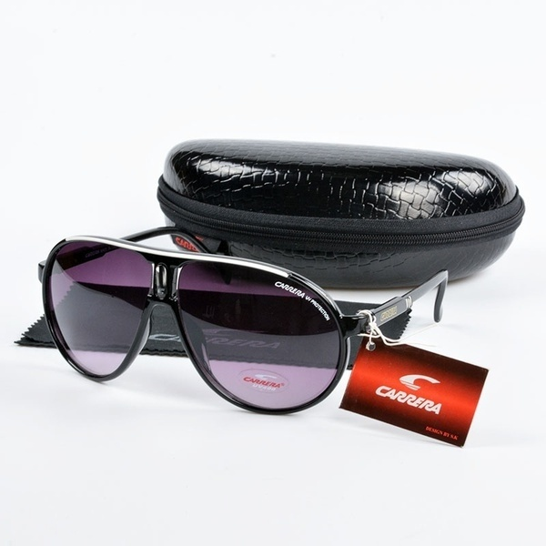 Fashion Men&Women Retro Sunglasses 6 Colors Unisex Matte Frame Carrera Glasses + Box