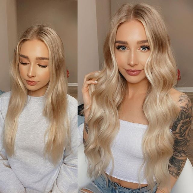 Women Wigs Lace Front Hair White Platinum Wig Frosty Blonde Hair Dyed Blond Hair