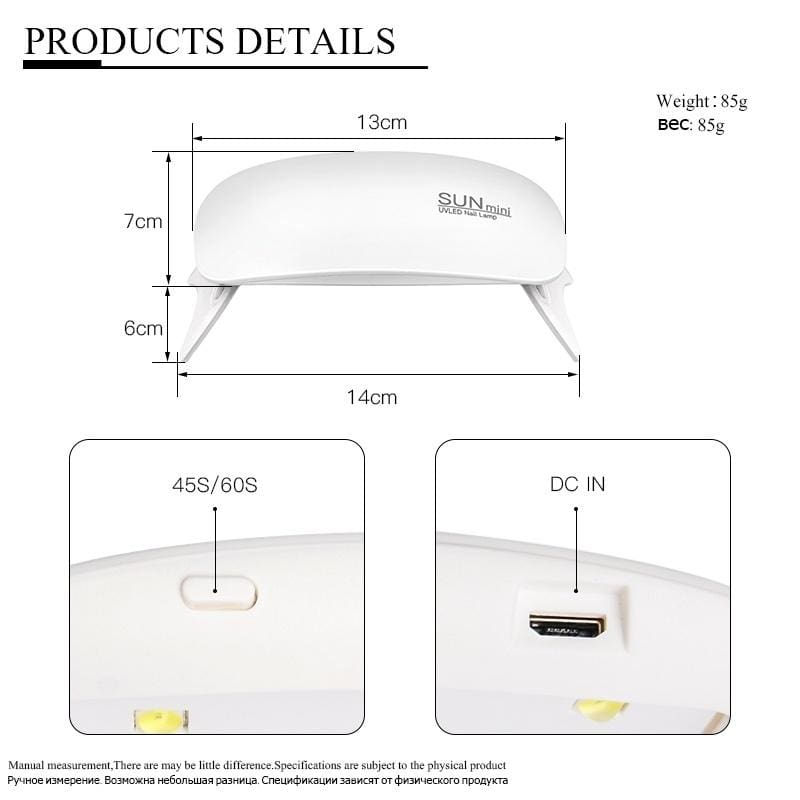 MEET ACROSS 20ML Nail Acrylic Poly Quick Extension Gel Crystal UV LED Building Nail Gel Slip Solution with 6W USB Mini UV LED Lamp Dryer
