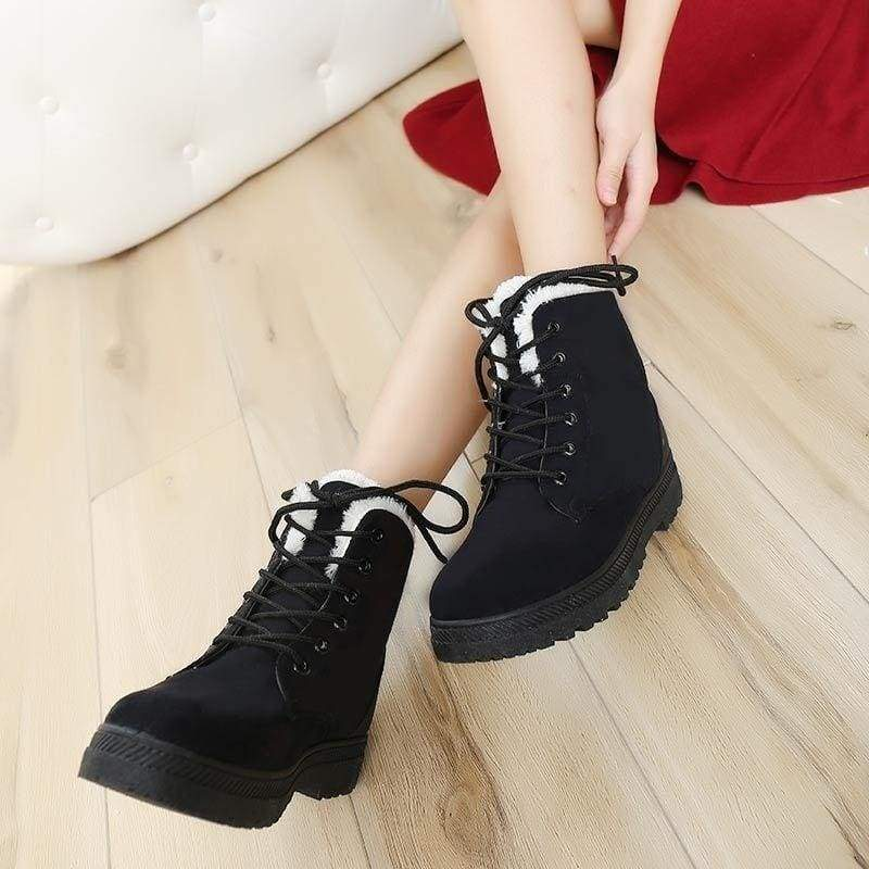 Fashion Winter Women's Warm Snow Boots Short Ankle Boots