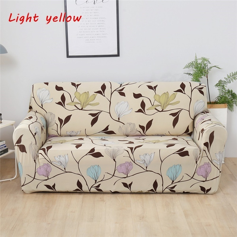 1/2/3/4 Seater 16 Styles Stretch Sofa Cover Furniture Protector Polyester/Elastane Loveseat Couch Cover for Living Room