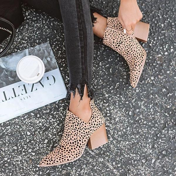 Mokoshoes Marie Leopard Outside Cutouts Cheetah Boots