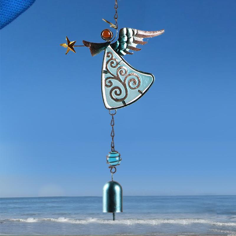 Angel Glass Painted Wind Chimes