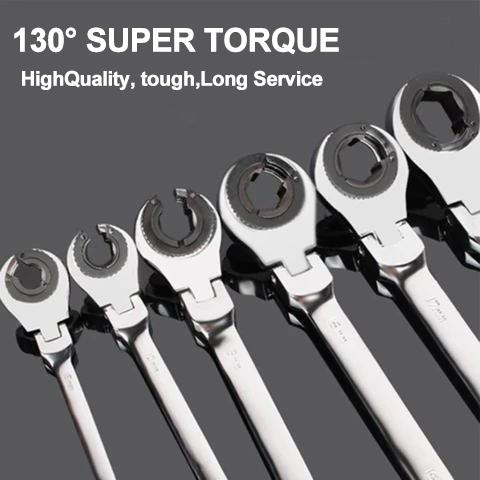 Tubing Ratchet Wrench (One year warranty + 30 days no reason to refund)