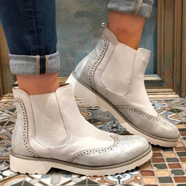 Bonnieshoes Split Joint Slip-On Ankle Boots