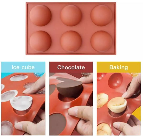 🌟Christmas Hot Sales🌟Semi Sphere Silicone Mold