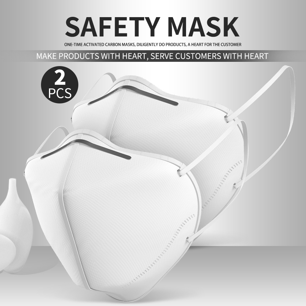 2/10 PCS  FFP2 KN95 Mask Protective Mask Safe Anti Virus Dust Pollution Mask Anti-Fog Aseptic Protection Respirator Unisex Outdoor Vented Face Mask