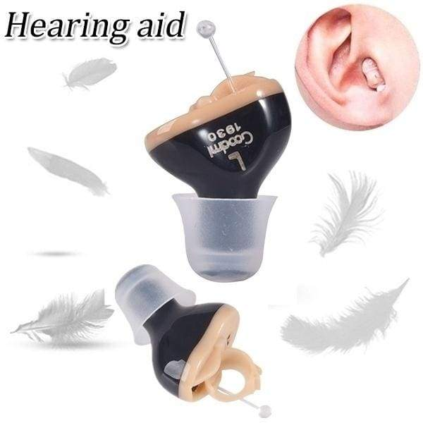 Portable Mini Inner Ear Invisible Hearing Aid Device CIC Adjustable Digital Sound Amplifier with Box