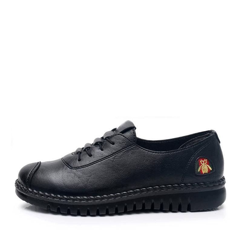 anti-skid soft-soled leather shoes