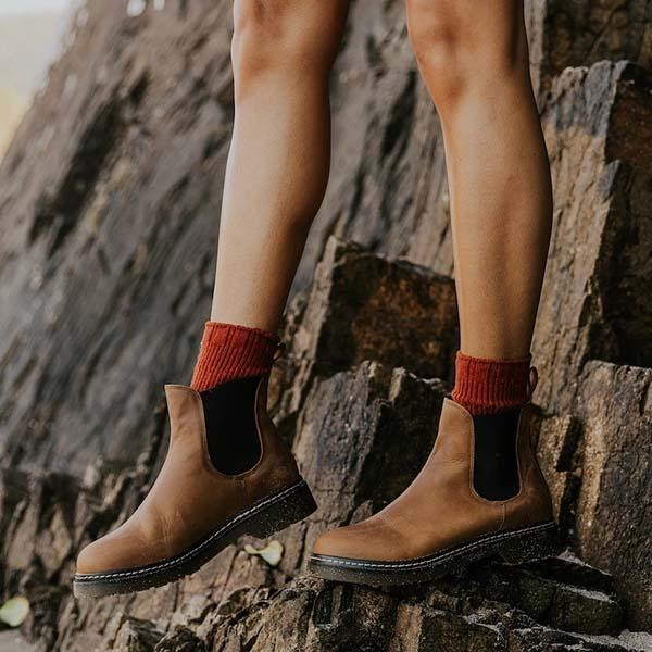 Mokoshoes Artificial Leather Chelsea Boots