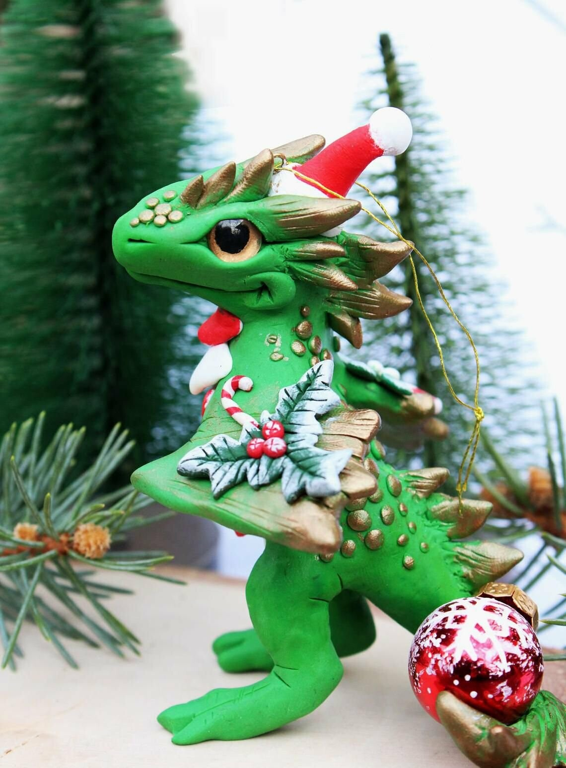 (🎄Early Christmas Sale🎄- Save 40% OFF) Santa Baby Dragon Christmas Ornament (Buy more save more)