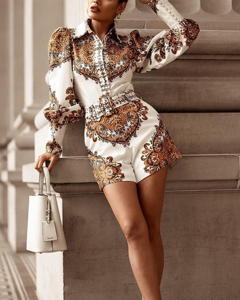 Fashion Printed Casual Party Jumpsuit