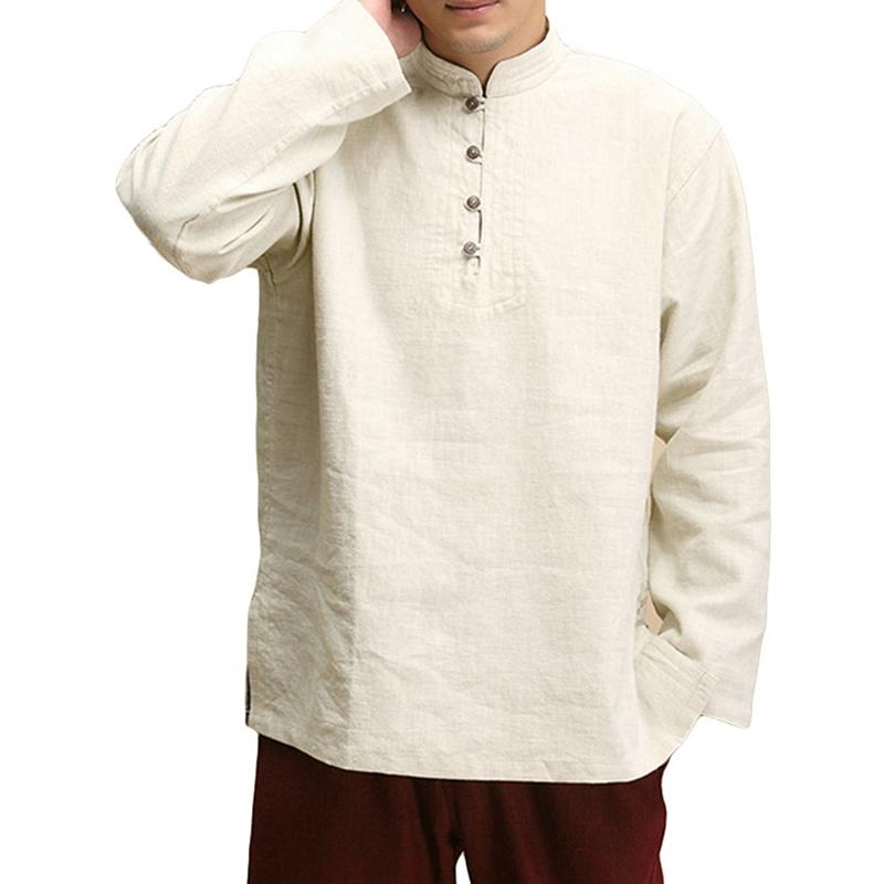 Solid Color Long Sleeve Loose Shirt