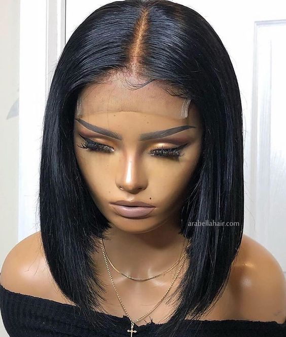 Lace Front Wigs Black Hair short natural straight wigs bob hair short wigs