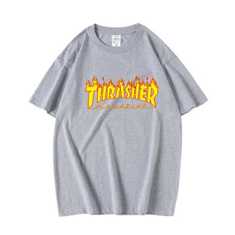 Men's T shirt Thrasher Skateboard Printed T shirts
