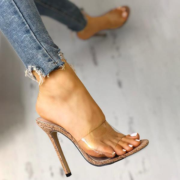 Mokoshoes Fashion Transparent High Heel Sandals