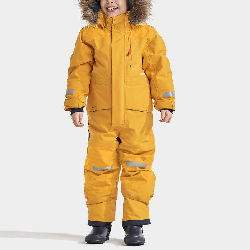 Children's waterproof and cold-proof color matching ski suit