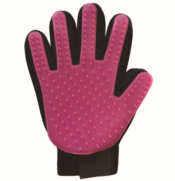 Five Finger Design Rubber Pet Grooming Gloves