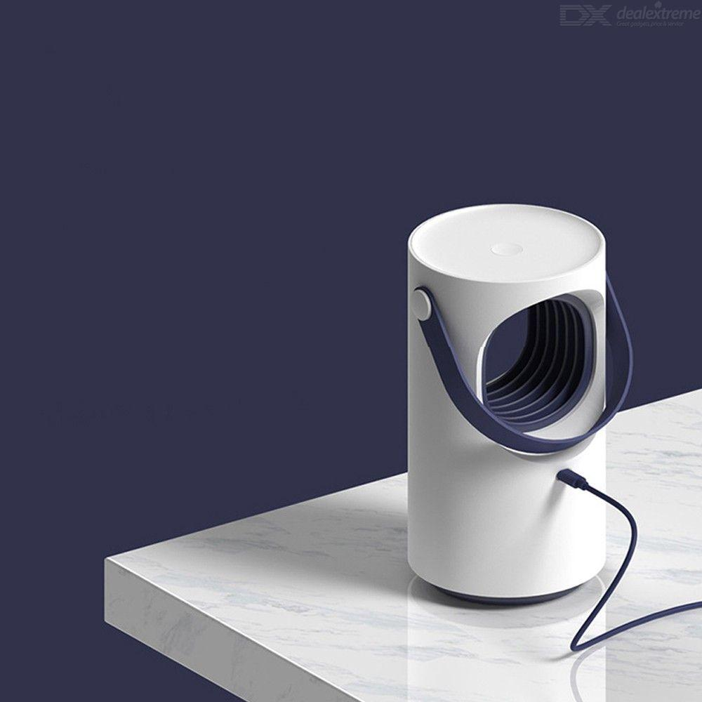 LED Electric Mosquito Killer Lamp Indoor Anti-Mosquito LED Photocatalyst Light  With USB Charging - White