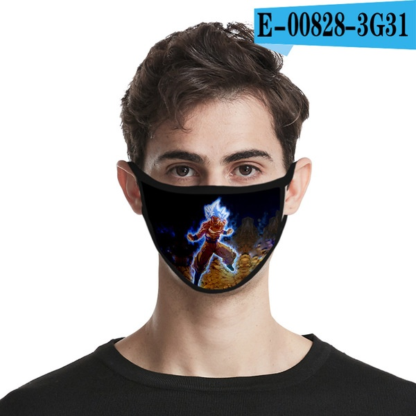 Japanese anime dragon ball anti-fog 3D fashion printing mask can be washed