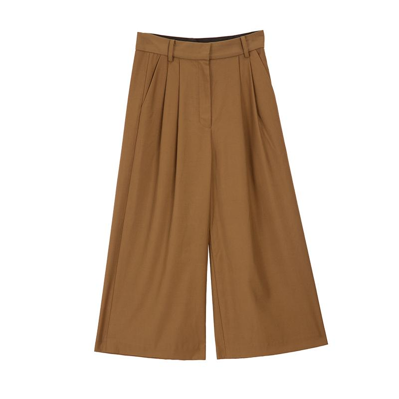 Cropped wide leg Pants hot sale western style-carrot trousers 2.11