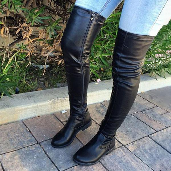 Bonnieshoes Trendy Over The Knee Long Boots